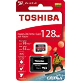 Toshiba microSDXC 128GB 98MB / s Write65MB / s THN-M303R1280 4K A1 V30 U3 Toshiba overseas counter-package product