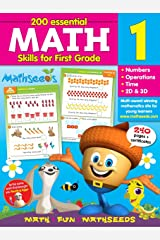 Math for 1st Grade - 200 Essential Math Skills (Mathseeds) Flexibound