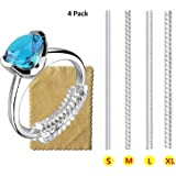 Ring Size Adjuster for Loose Rings Invisible Transparent Silicone Guard Clip Jewelry Tightener Resizer 4 Sizes Fit Almost Any
