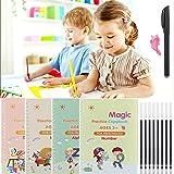 4Pcs Calligraphy Copybook, Sank Magic Practice Copy Book, Magic Calligraphy That Can Be Reused Handwriting Copybook Set for K