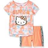 Hello Kitty Girls Short Sleeve Short Set Shorts Set