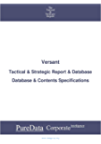 Versant: Tactical & Strategic Database Specifications - Nasdaq perspectives (Tactical & Strategic - United States Book 12434) (English Edition)