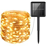 AMIR Solar Powered String Lights 100 LED Copper Wire Lights Starry String Lights Indoor/Outdoor Waterproof Solar Decoration L