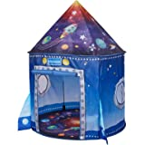 JS-KIDSEZ Premium Rocket Ship Kids Tent, a Pop Up Play Toy Tent for Kids, a Large Space Indoor Outdoor Playhouse. Unique Play