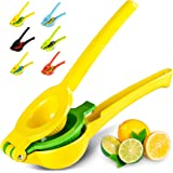 Zulay Premium Quality Metal Lemon Lime Squeezer - Manual Citrus Press Juicer