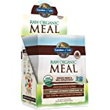 Garden of Life Meal Replacement - Organic Raw Plant Based Protein Powder, Chocolate, Vegan, Gluten-Free, 10 Count Tray