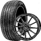 GOODRIDE (グッドライド) サマータイヤ ホイールセット 215/45R17 SA37 + 17×7.0J +38 5/114.3 ブラック 4本セット 2021年製