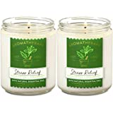Bath & Body Works Stress Relief Aromatherapy Scented Candles   Eucalyptus Spearmint Scent     Soy Based Wax   dfrDhp   Natura
