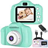 Kids Camera, 8.0 MP FHD Digital Video Recorder Shockproof Action Cameras with 2 Inch IPS Screen and 32GB SD Card for Girls Bo