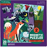 Mudpuppy Forest Night and Day Magnetic Puzzles – Ages 4-7 – Includes 2, 20-Piece Magnetic Puzzles and a Magnetized Tri-Fold P