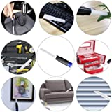 VACEXT Universal Vacuum Attachment Tiny Tubes Flexible Access to Small Spaces Where Normal Vacuum Cleaner Can't. Dusty Brush