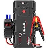 Rooboost™ 2000A Peak Extreme Safe Car Jump Starter (Up to 10L Gas or 8L Diesel), USB Quick Charge 3.0, Digital Smart Jumper C