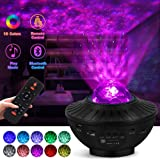 lightworld Star Projector Galaxy Night Light Projector Star Light Projector for Bedroom 10 Colors Ambiance with Bluetooth Mus