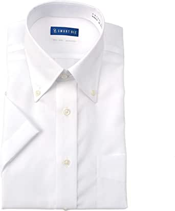 [ドレスコード101] ノーアイロン 半袖 ワイシャツ 洗って干してそのまま着る 綿100% の優しい着心地 クールビズスタイルでかっこいいデザイン シーンを選ばない 高形態安定 EHTO01 メンズ