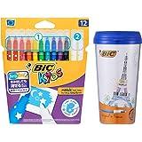 ビック 水性ペン ビッグキッズ カラーペン10 消せるペン2本 ブルーケース付 BKCE12E-TUMB