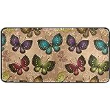 Butterflies Kitchen Floor Mat Sping Summer Rainbow Butterfly Comfort Mats Entryway Welcome Non Slip Rug for Indoor Hallway Fr
