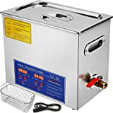Mophorn Ultrasonic Cleaner 6L Total 380W Commercial Ultrasonic Cleaner Professional Stainless Steel Industrial Ultrasonic Cle