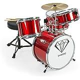 New Childrens 4 Piece Red Diamond Drum Kit Set Musical Instrument,kids