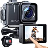 APEMAN Action Camera A100, Echte 4K 50fps WiFi 20MP Touchscreen Unterwasserkamera Digitale wasserdichte 40M Helmkamera (2.4G