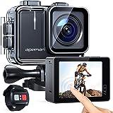 APEMAN Action Camera A100, Echte 4K 50fps WiFi 20MP Touchscreen Unterwasserkamera Digitale wasserdichte 40M Helmkamera (2.4G