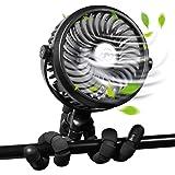WGCC Portable Handheld Fan, 2600mAh Mini Small Fan 3 Levels Wind Regulation with Light