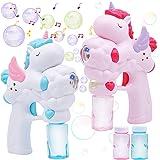 JOYIN 2 Unicorn Bubble Gun with 50 ML Bubble Solution Set for Kids Summer Toy, Party Favor, Bubble Summer Toy, Classroom Priz