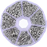 Supla Open Jump Rings 4mm 5mm 6mm 7mm 8mm 10mm 21 Gauge and 19 GaugeLobster Claw Clasp 12 x 7mm For jewlery making findings (