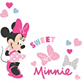 Lambs & Ivy Disney Baby Minnie Mouse Love Wall Decals/Stickers with Hearts/Bows