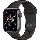 最新 Apple Watch SE(GPS + Cellularモデル)- 40mmスペースグレイアルミニウムケースとブラックスポーツバンド