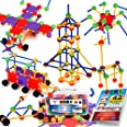 STEM Master Building Toys for Kids Ages 4-8 - STEM Toys Kit w/ 176 Durable Pieces, Full-Color Design Guide, Reusable Toy Stor