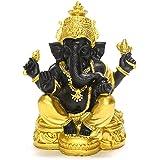 ガネーシャ 置物 インドの神様 ゴールド ブラック ガネーシャ像 象 オブジェ 金運 開運 商売繁盛 風水グッズ 玄関 インテリア