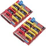 HiLetgo 2個セット V3 彫刻 シールド 3D プリンタ CNC 拡張ボード A4988 ドライバーボード Arduinoと互換