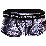 (ジーステーション) G-Station デニム ニードル プリント ツルツルスベスベ ボクサーパンツ メンズ 男性下着…