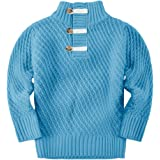 Makkrom Kids Baby Boys Knit Sweater Turtle Neck Long Sleeve Casual Winter Warm Solid Pullover Sweater