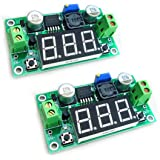 HiLetgo 2pcs LM2596 Buck Step-Down Power Converter Module 4.0-40V to 1.25-37V LED Voltmeter