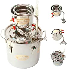newwishjc 20 L DIY 蒸留器、工場直接小さなステンレス製の醸造キット、蒸気ワイン、純粋な露マシンは、あなたが、スピリッツ、エッセンシャルオイル、純粋な水を作成することができ、無料送料
