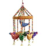 Handmade Decorative Door Hanging Bell Bird Shandler for Home Decoration Hanging Ornament
