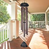 """Large Wind Chimes Outdoor,36"""" Amazing Grace Wind Chimes Large with 5 Metal Tubes Tuned Deep Tone Melody,Memorial Wind Chimes"""