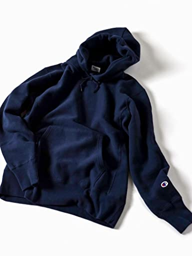 Reverse Weave Pullover Hooded Sweat Shirt 112-55-0016: Navy