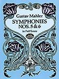 マーラー: 交響曲 第5番 嬰ハ短調、第6番 イ短調 「悲劇的」/ドーヴァー社/大型スコア