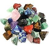 "3 lbs Bulk Rough Madagascar Stones Mix - Large 1"" Natural Raw Stones Crystal Tumbling, Cabbing, Fountain Rocks, Decoration,Po"