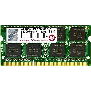 Transcend ノートPC用メモリ PC3-8500 DDR3 1066 4GB 1.5V 204pin SO-DIMM (無期限保証) JM1066KSN-4G