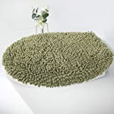 MAYSHINE Seat Cloud Bath Washable Shaggy Microfiber Standard Toilet Lid Covers for Bathroom -Sage Green