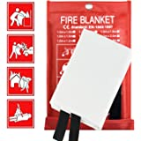 Fire Blanket Fire Suppression Blanket, Emergency Fire Safe Blanket Fire Safety Blanket for Kitchen, Car and People, Fiberglas