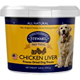 Stewart Pro-Treat, Freeze Dried Chicken Liver Dog Treats, Single Ingredient, Grain Free, USA Made, 16.8 oz. Resealable Tub