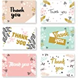 ProCase Thank You Cards, 48 Pack Bulk Thank You Notes with 8 Floral Designs and Matching Envelopes, 4 x 6 Inch Blank Greeting