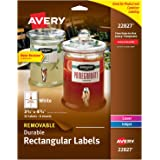 "Avery Removable Labels with Sure Feed for Laser & Inkjet Printers, 3.5"" x 4.75"", 32 Labels (22827)"