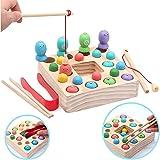 モンテッソーリ 磁石 おもちゃ 木の魚釣り 男の子 知育玩具 木製 親子ゲーム 子供 人気誕生日プレゼント クリスマス 贈り物 入園お祝い 女の子 2 3 4 5 6 歳
