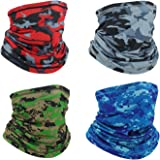XZMY-TC Neck Gaiters Summer Cooling Face Masks Face Cover Scarf Bandana Balaclava for Outdoor 4pcs