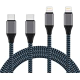 USB C to Lightning Cable, 2 Pack 6Ft Nylon Braided MFi Certified iPhone Charger Compatible with iPhone X/XS/XR/XS Max/ 8/Plus